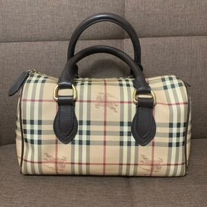 Authentic Burberry Chester Bowling Bag Satchel